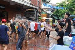 泼水节- Songkran 库存照片