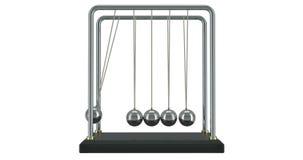 摆锤,牛顿在行动的` s摇篮 3d翻译 向量例证