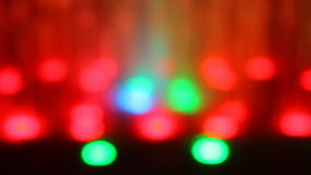 摇动轻的Bokeh LED灯 股票录像