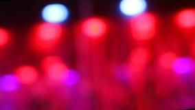 摇动轻的Bokeh LED灯 股票视频