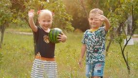 摇在自然的孩子手 股票录像