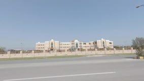 摇摄射击了民用医院巴哈瓦尔布尔,巴基斯坦 股票视频