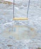 摇摆在水,春天融解水坑  库存照片