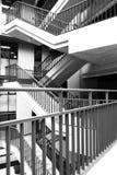 摇摆的楼梯 免版税库存照片