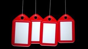 摇摆空白的红色生气蓬勃的行标记背景 影视素材