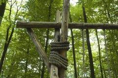 摇摆集合的木制框架 库存图片