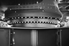 摇摆驱动和旋转圆环挖掘机细节  库存照片