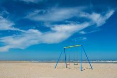 摇摆,海滩,海;火箭队浮游物塔 库存照片