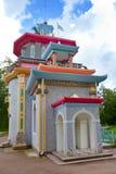 摇摇欲坠的夏天房子在Tsarskoe Selo (普希金),俄罗斯 库存照片