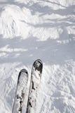 摇晃丢弃滑雪线索 库存照片