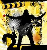 摇滚乐音乐会背景 免版税库存照片