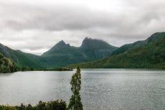 摇篮山湖圣克莱尔国家公园 免版税库存照片