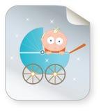 摇篮车图标的婴孩 图库摄影