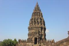 摇篮车Candi拉拉Jonggrang巴兰班南是巨型的印度寺庙的一汇集 库存照片