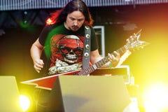 摇滚乐队的安德雷Golovanov吉他弹奏者 免版税库存图片