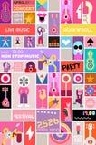 摇滚乐音乐会海报模板 库存例证