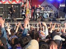 摇滚乐音乐会的人们 库存图片
