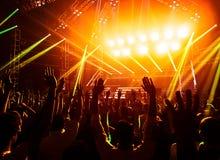 摇滚乐音乐会 库存照片