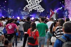 摇滚乐音乐会 免版税库存照片