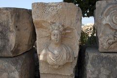 摇滚删节的坟茔在迈拉,代姆雷,土耳其,场面4 免版税库存照片