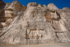摇滚安心雕刻了在239 - 70关于波斯统治者的胜利的公元之间 免版税图库摄影