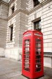 摊伦敦红色电话 伦敦吸引力 库存图片