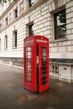 摊伦敦红色电话 伦敦吸引力2 免版税图库摄影