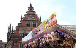 摊位在市场,哈莱姆,荷兰 图库摄影
