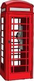 摊英国电话红色 免版税库存照片