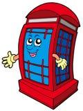 摊英国电话红色 免版税库存图片