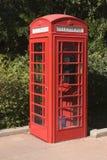摊英国电话 免版税库存照片