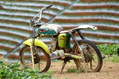 摒弃摩托车 免版税库存照片
