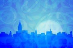 摘要上色纽约 免版税库存照片