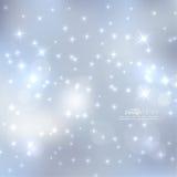 摘要与闪闪发光星的被弄脏的背景 库存图片