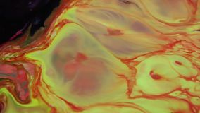 摘要五颜六色的充满活力的打旋的颜色爆炸油漆疾风纹理 股票视频
