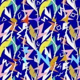 摘要五颜六色的部族几何之字形传染媒介无缝的样式 复杂之字形线 蓝色装饰种族样式 皇族释放例证