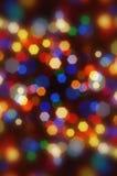 摘要五颜六色被弄脏的bokeh的圣诞节 图库摄影