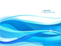 摘要传染媒介蓝色波浪背景 小册子的,网站,流动应用程序,传单图形设计模板 水,小河 皇族释放例证