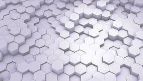 摘要六角形几何介绍 生气蓬勃的表面圈英尺长度 轻的六角网格图形背景,任意地 向量例证