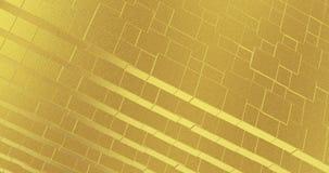 摘要几何金黄backgroundfoil瓦片构造无缝的圈背景3D翻译