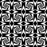 摘要几何黑白方形的背景 皇族释放例证