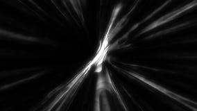 摘要和翘曲的光线在黑色 r 向量例证