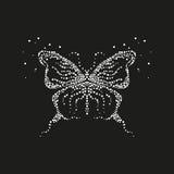 摘要和蝴蝶从泡影 免版税库存图片