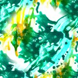 摘要墨水无缝的样式有丙烯酸酯的艺术手画背景 水彩污点 水彩洗涤 向量例证
