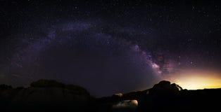 摘要安排背景计算机星座宇宙被创建的星系乳状晚上photocomposite位置实际天空星形星形方式 库存照片