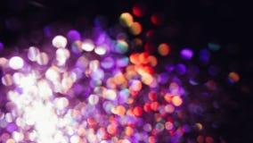摘要弄脏了闪烁的亮光、紫罗兰和红色 库存图片