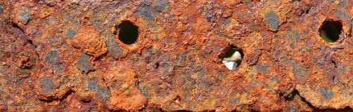 摘要引起的织地不很细铁锈金属表面背景 库存照片