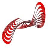 摘要弯曲的设计红色 库存照片