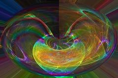 摘要当前创造性的充满活力的混乱波浪,设计魔术动力学 库存例证