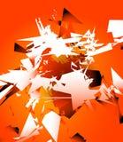 摘要打碎了与任意锋利碎片的数字式艺术 数字式 库存例证